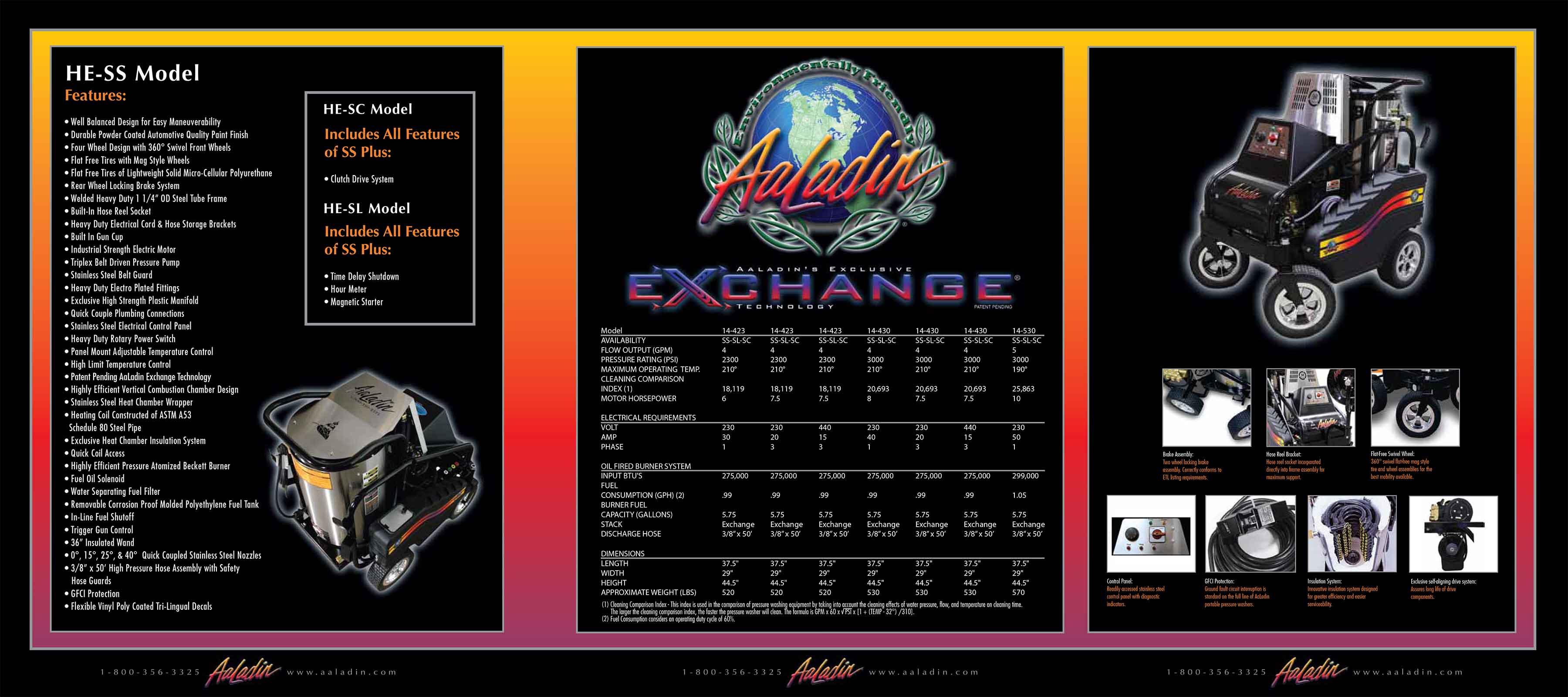 Aaladin Exchange HE-SS Model Equipment Pamphlet