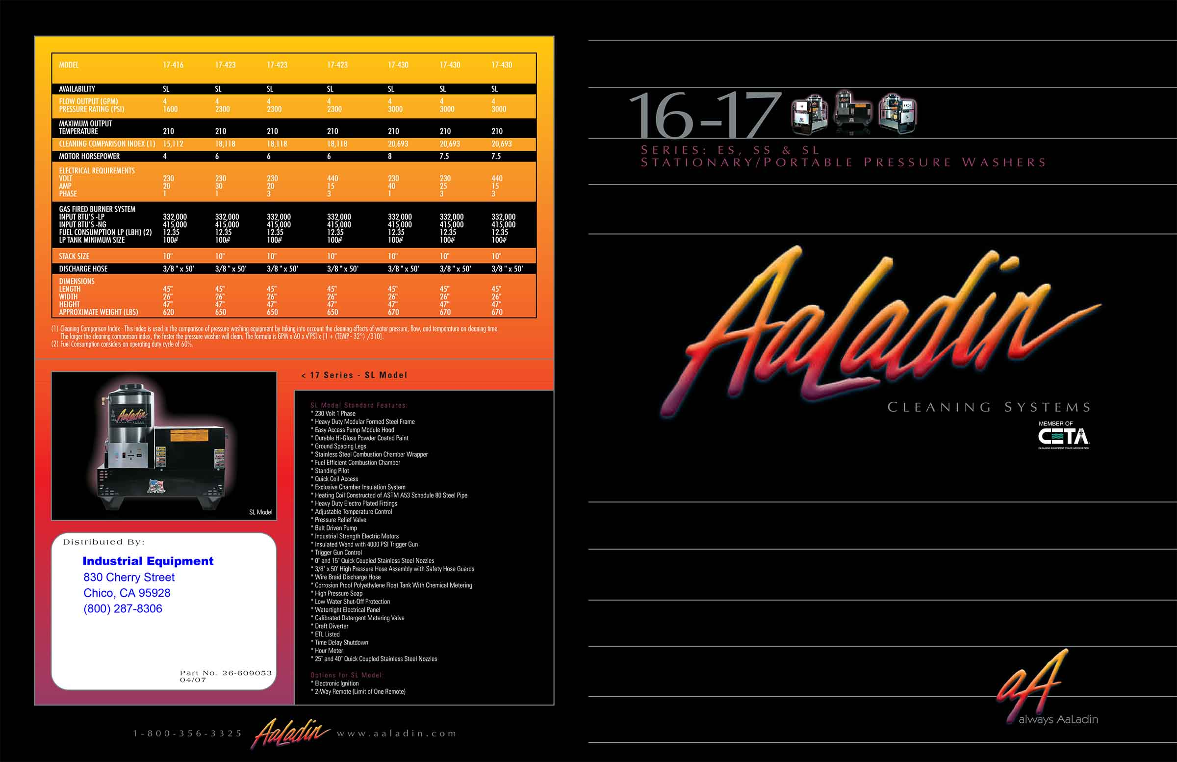 Aaladin 16-17 Series Cleaning System Pamphlet