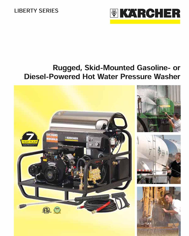 Karcher Rugged, Gasoline or Diesel Powered Washer