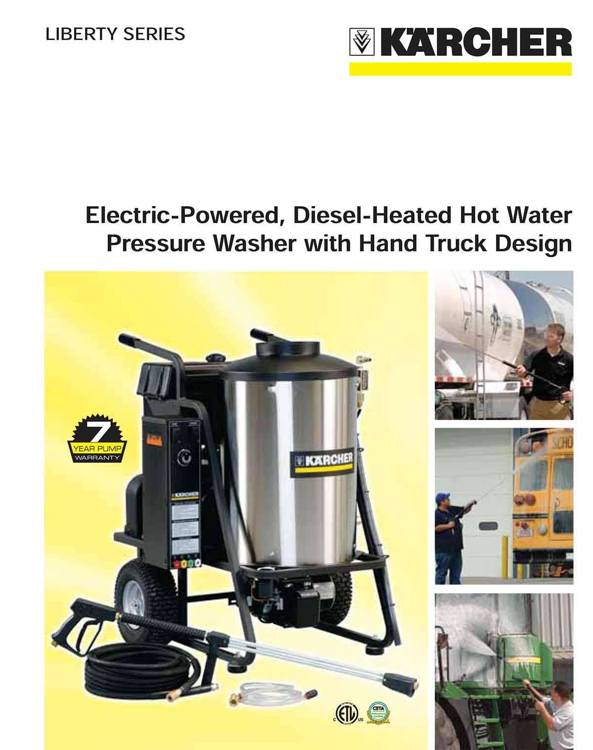 Karcher Pressure Washer with Hand Truck Design