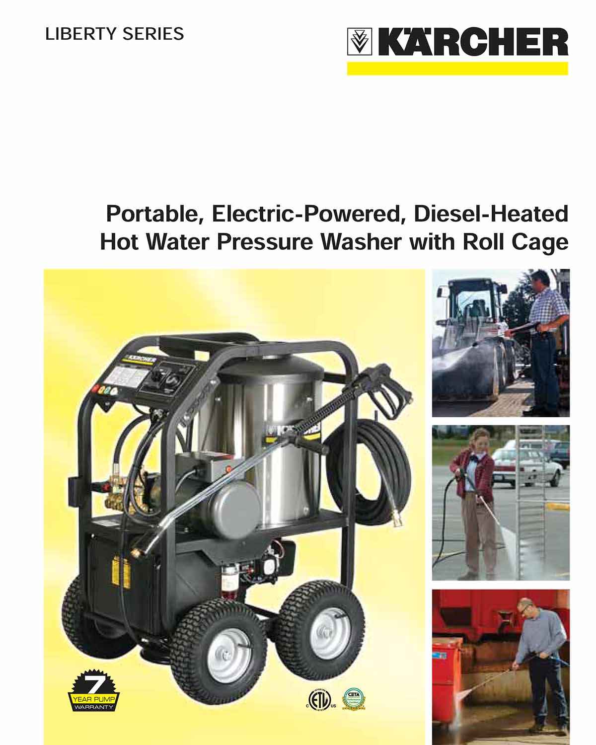 Karcher Liberty Series Hot Water Pressure Washer with Roll Cage