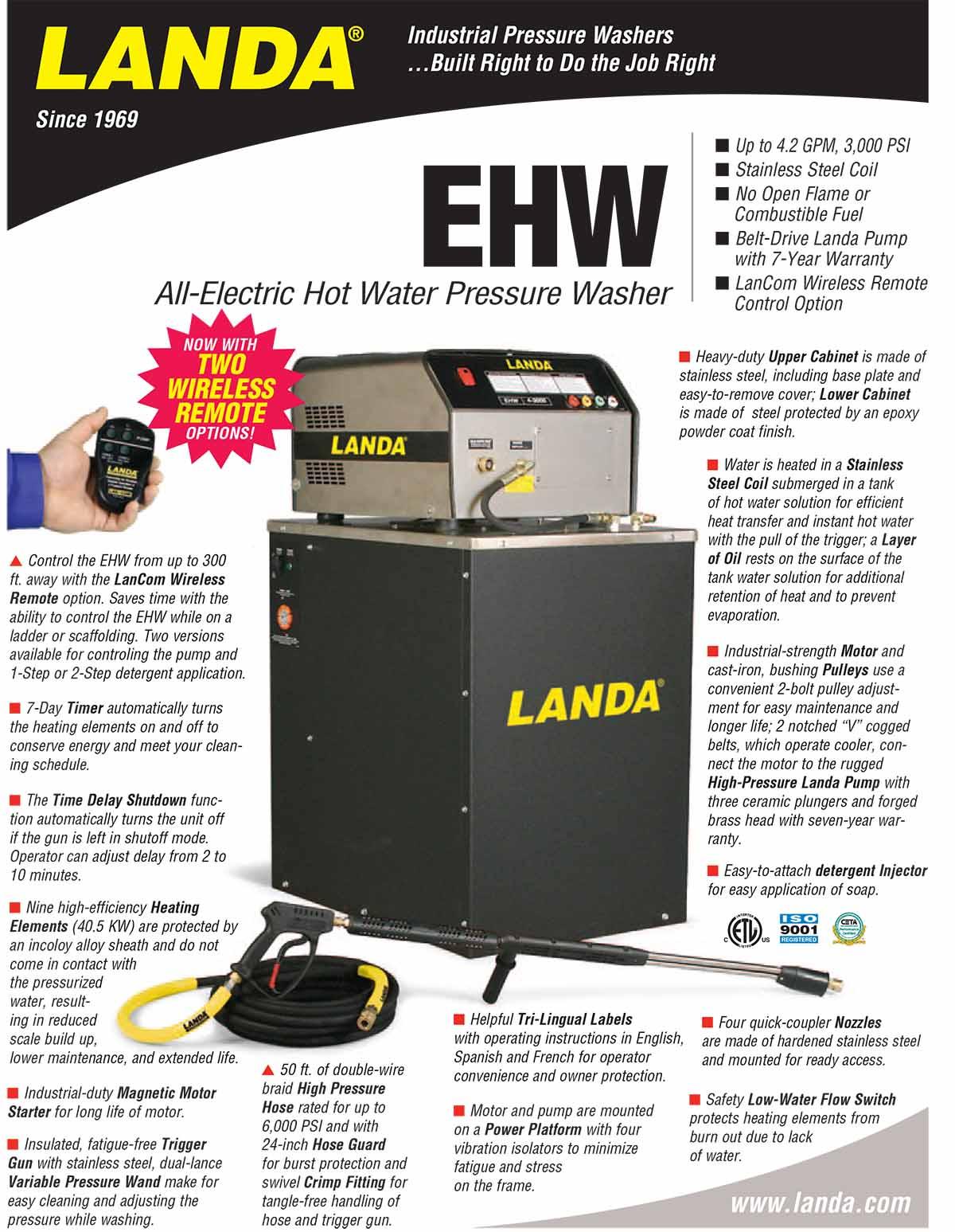 LANDA EHW Equipment Flyer