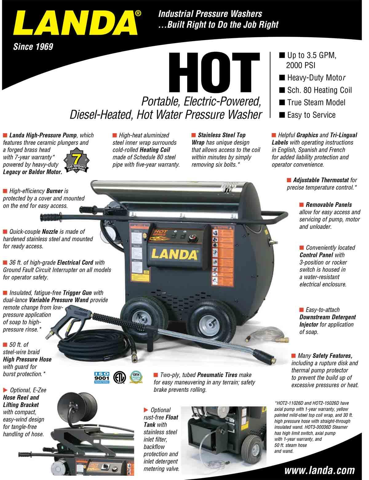 LANDA HOT Equipment Flyer
