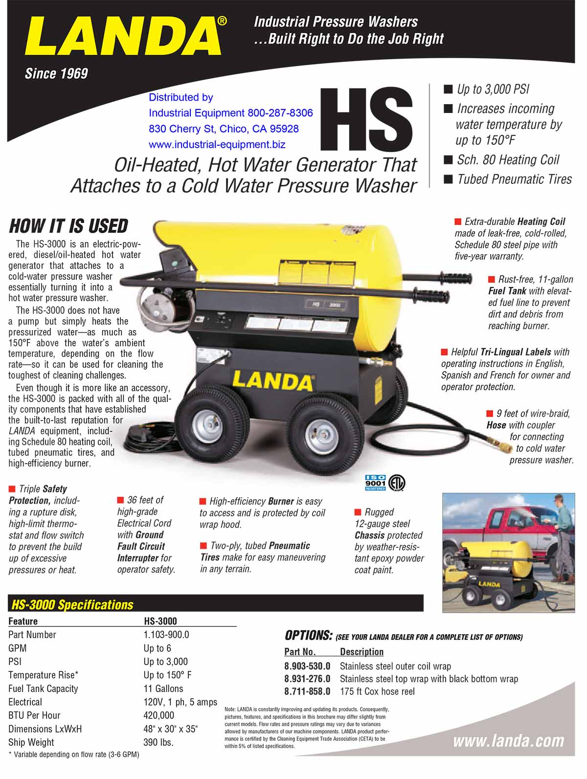 LANDA HS Equipment Flyer