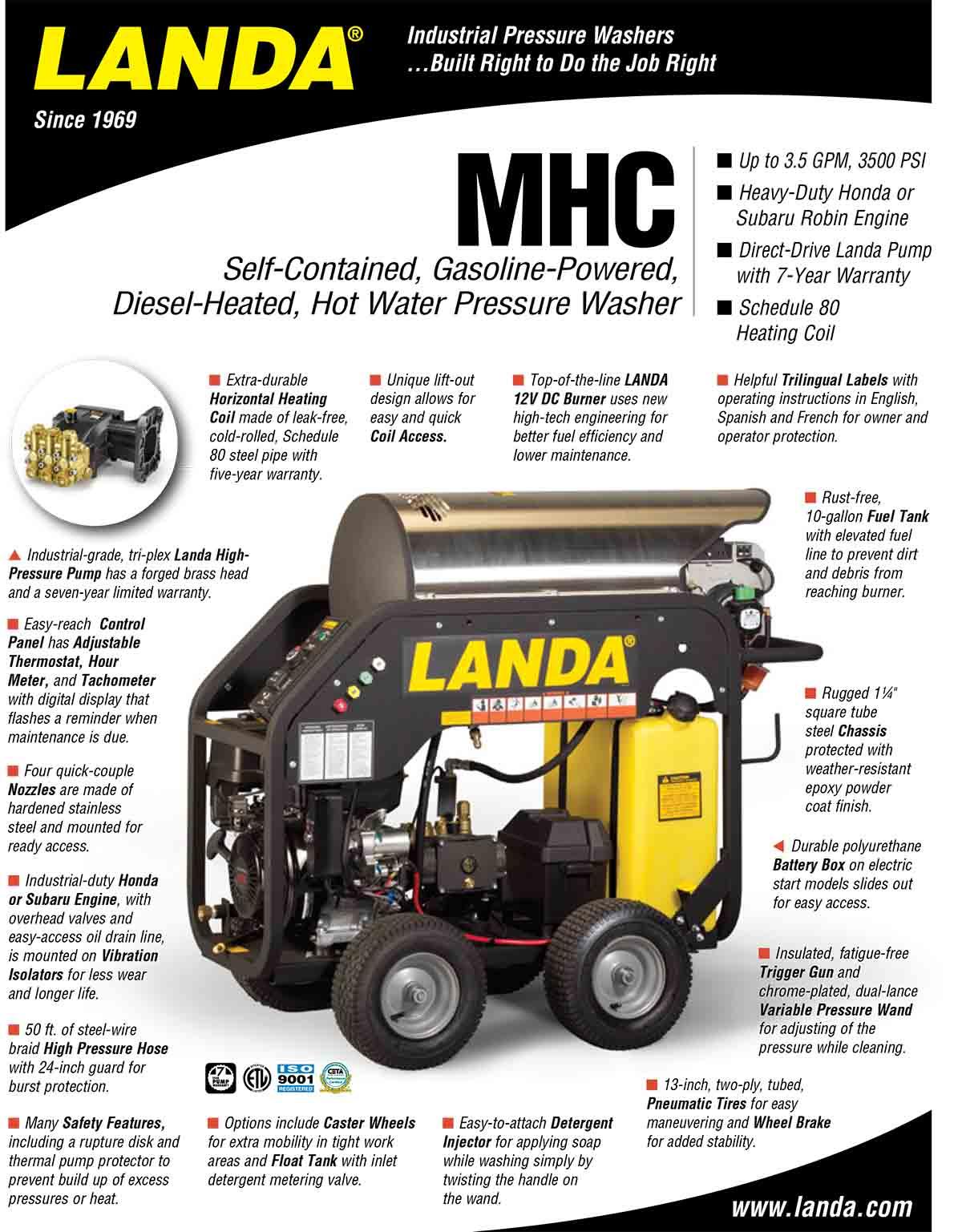 LANDA MHC Equipment Flyer