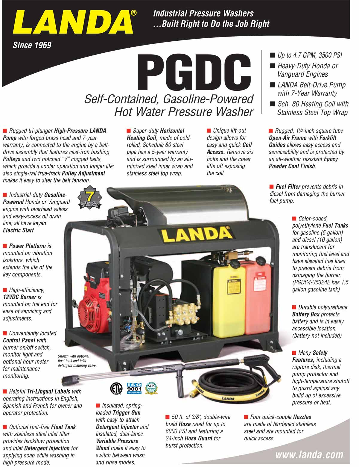 LANDA PGDC Equipment Flyer