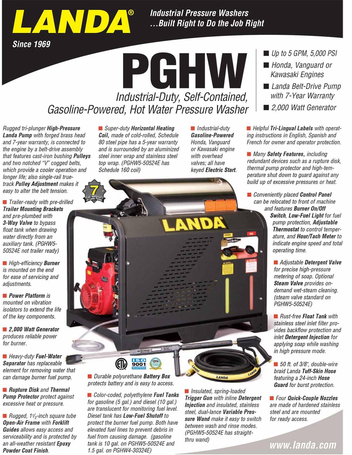 LANDA PGHW Equipment Flyer