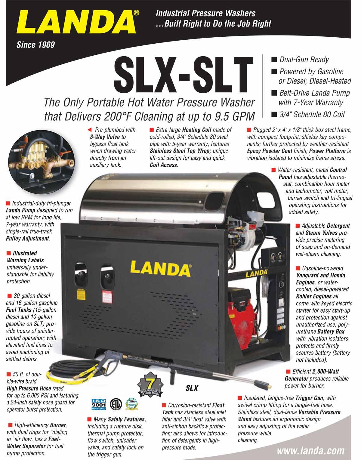 LANDA SLX-SLT Product Flyer