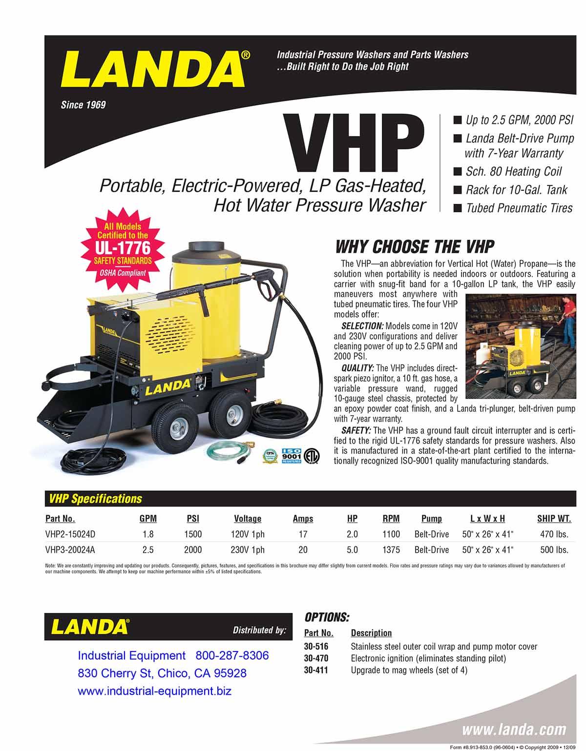 LANDA VHP Equipment Flyer